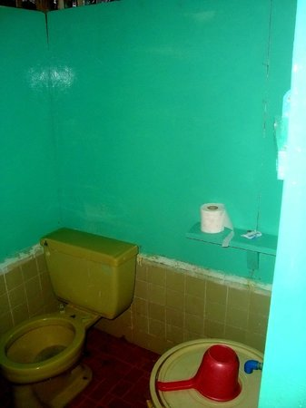 Banana Island:                   Toilet in cottage