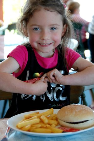 Lake District Coast Aquarium: A happy visitor in the cafe