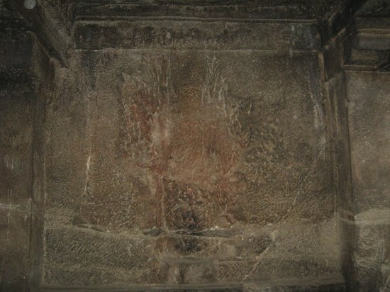 Pataleshwar Cave Temple:                   Defaced sculpture on the wall