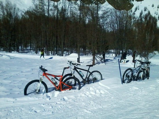 La Salle, Italien: Snow Bike in Val Ferret