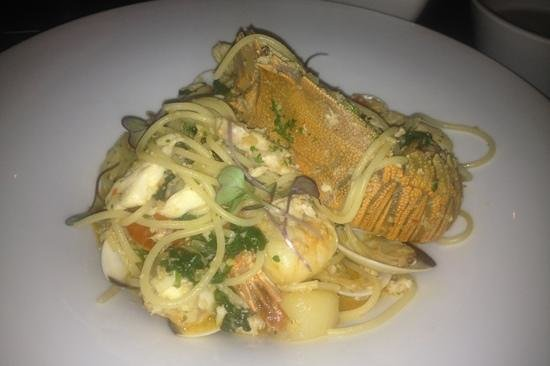 Glass Dining and Lounge Bar : seafood spaghetti - so great
