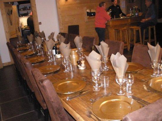 Ski & Summer Morzine - Chalet BonBon:                                     Table ready for the evening meal