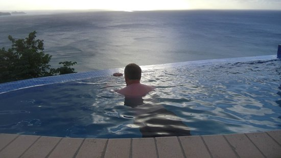 Windjammer Landing Villa Beach Resort:                   View from infinity plunge pool on villa balcony