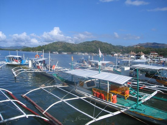 Coron Bay: view from the loading deck
