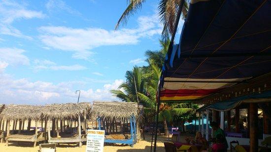 Ritas Hotel:                   Beach in front of Ritas
