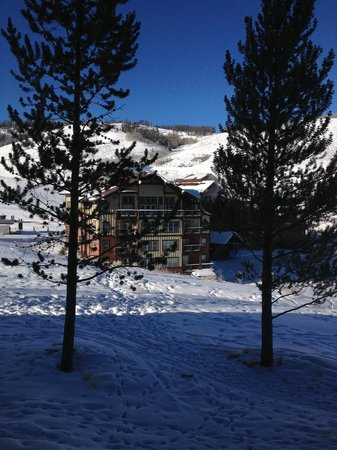 The Mountainside at Silver Creek:                   View of the Granby Ranch Lodge from our room