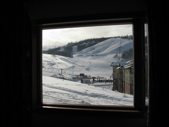 The Mountainside at Silver Creek:                   View of the ski lift from our room