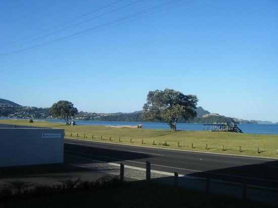 Oceanside Motel Whitianga:                   View from ground floor patio