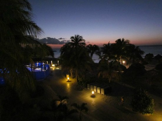 Divi Aruba Phoenix Beach Resort:                   Sunset and view of Pure Ocean