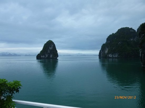 Fascinating Halong Bay Private Cruise Day Tour:                                     in the Bay