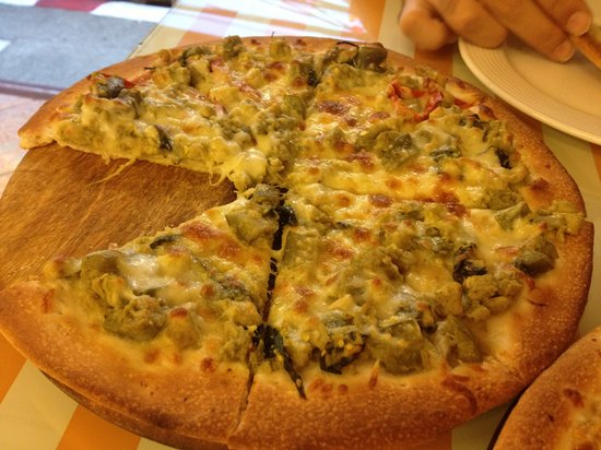 The Cook:                                     Green curry pizza
