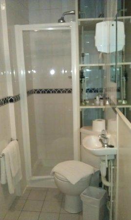 Garden Court Hotel:                   Room No 3 bathroom: compact