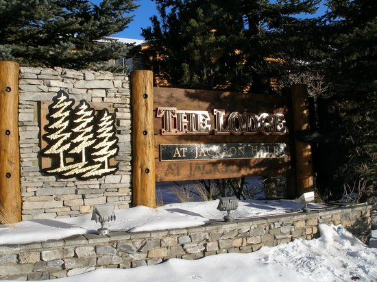 The Lodge at Jackson Hole: entrance sign