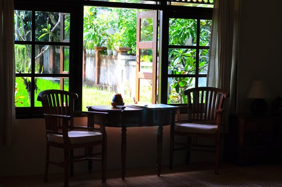 Kebun Indah: Table by the window