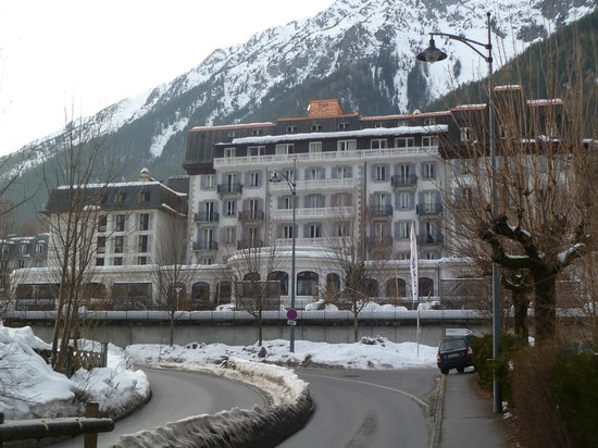 Club Med Chamonix Mont-Blanc:                   View of hotel from town