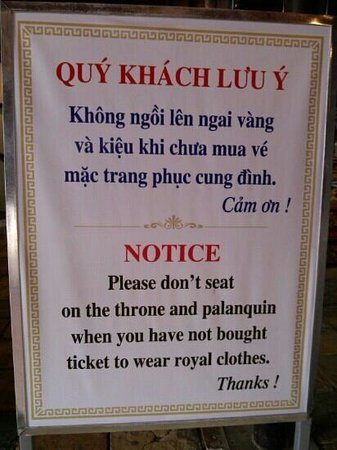 Hong Thien Backpackers Hotel:                   advise at the kings palace...:-)