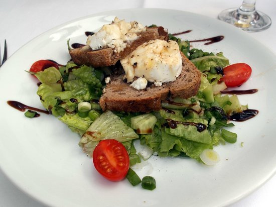 Evimiz:                                                       Warm goat's cheese with honey dressing