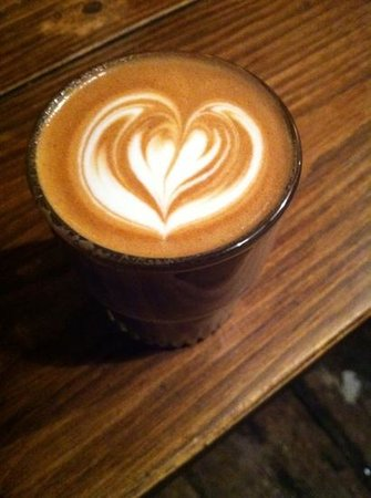 artisan roast:                   an arty latte