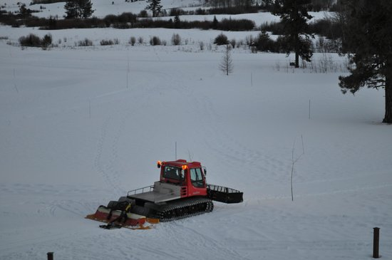 Tamarack Resort:                   Snow trail grooming over Tamarack golf course