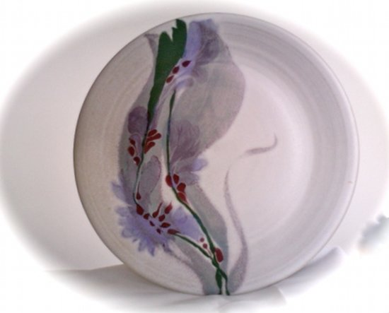 Cooper Mays Pottery: White Dinner Plate