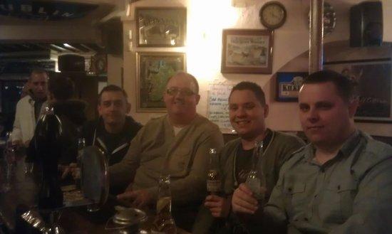 The Bailey Irish Pub:                   mancs on tour in baileys