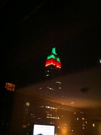 Kitano New York:                   View of Empire State from my bed on floor 10