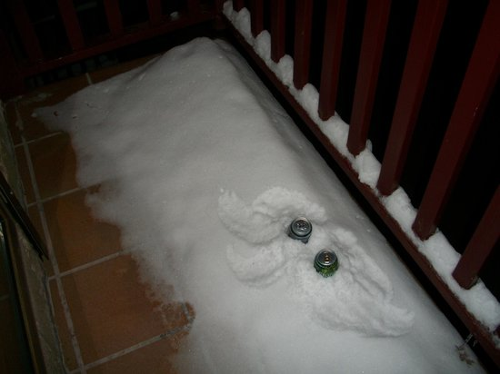 Frontera Blanca: freezen beers in the terrace