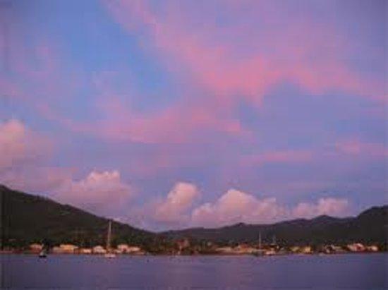 Manicou River:                   Every night a sunset treat                 