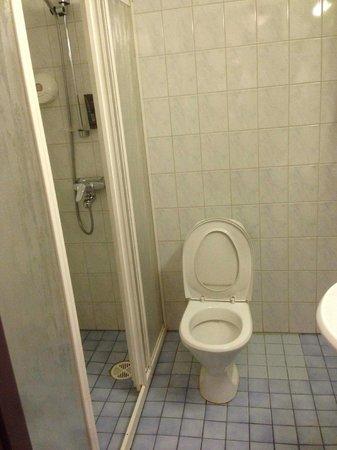 Hotel Helka:                   Utilitarian bathroom