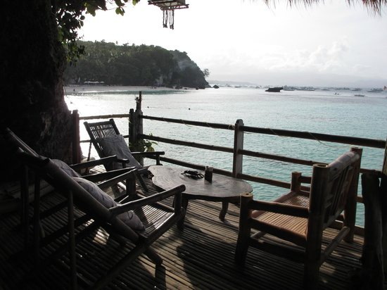 Spider House Resort: view from bar area