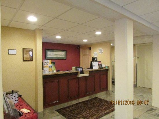Comfort Inn Airport:                   front desk