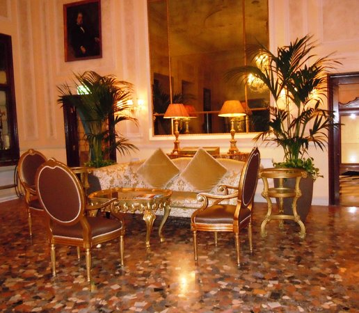 The Westin Europa & Regina, Venice:                   Sitting area off of the reception area
