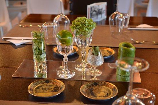 Lentate sul Seveso, Italië: particolare tavolo