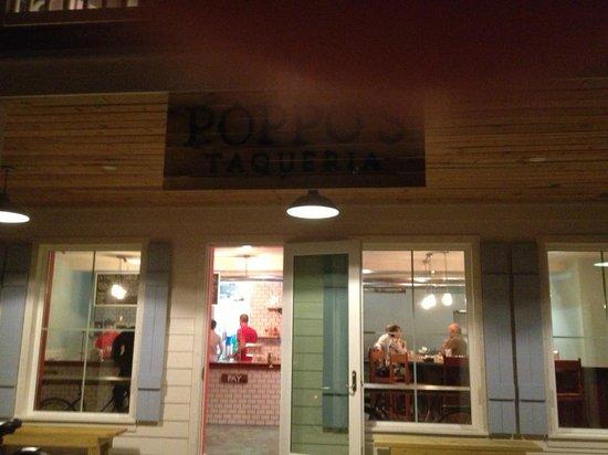 Poppo's Taqueria:                                                                         Exterior with thumb