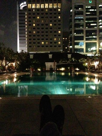 Raffles Hotel Singapore:                   Private pool deck