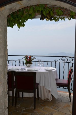 Chateau Eza:                   Our dining terrace!