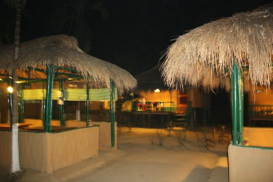 Nature Hunt Eco Camp, Kaziranga:                   The Night view of the camp