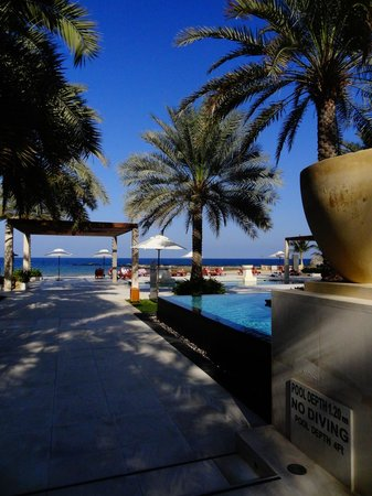 Al Bustan Palace, A Ritz-Carlton Hotel:                   Pool/beach area