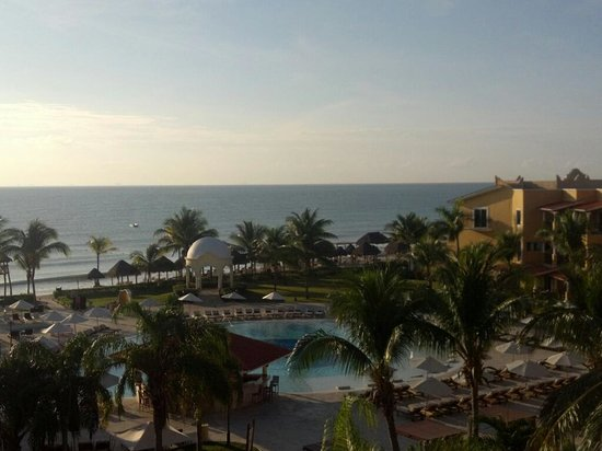 Secrets Capri Riviera Cancun:                   Sunrise View from our Balcony 507