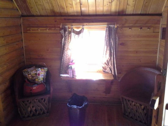 Rancho Ojai:                   inside our 6 person cabin w/o bathroom