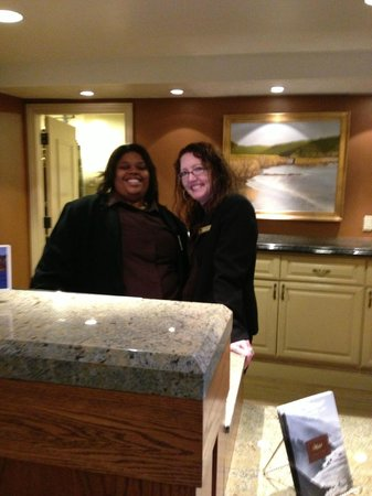 Bodega Bay Lodge:                   Reception Desk - Erika's on the right