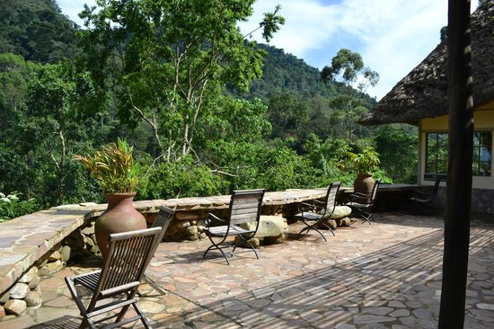 Bwindi Lodge:                   Deck area at the lodge