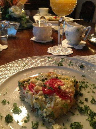 Shangarry Bed and Breakfast:                   Light & Tasty Vegetable Omelet with Feta Cheese