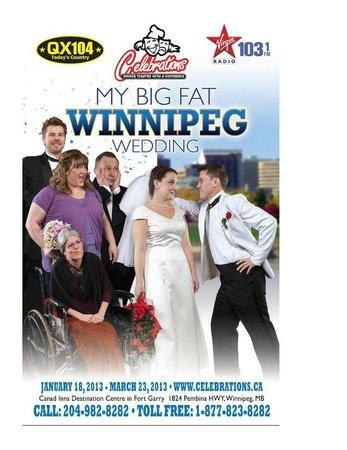 "Celebrations Dinner Theatre: Show Poster - ""My Big Fat Winnipeg Wedding"""