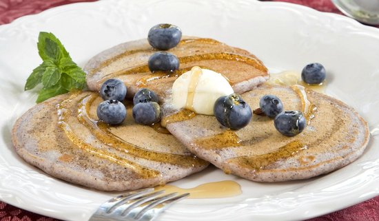 Bottger Mansion of Old Town: blue cornmeal pancakes