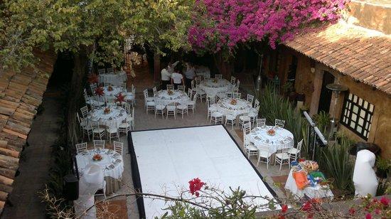 Hacienda El Santuario:                   Vista desde Casahuate