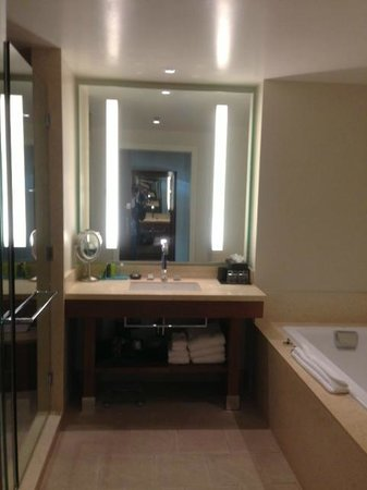 The Fox Tower at Foxwoods:                   Great bathroom - jetted tub, stand up shower, and separate toilet area