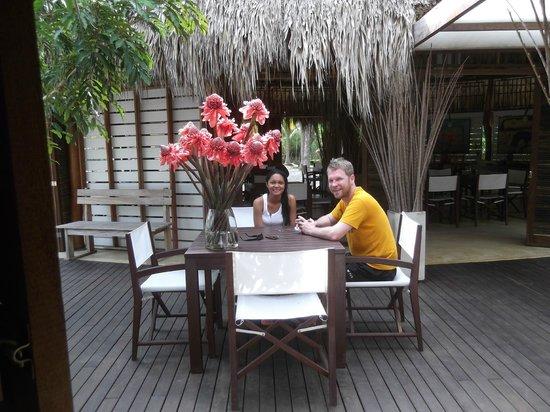 Merecumbe Hotel:                                                       Esperando el desayuno