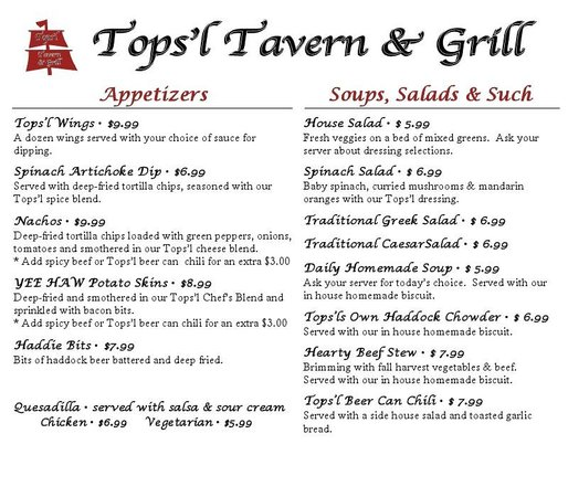 Tops'l Little Vegas Dining: Page 2