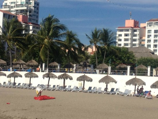 Melia Puerto Vallarta All Inclusive :                                     View of Melia from the beach